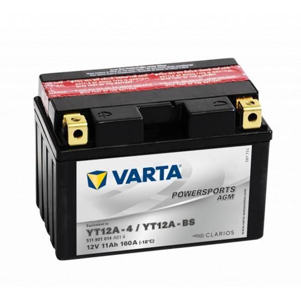 Bilde av  VARTA YT12A-BS AGM MC Batteri 12V 11AH 160CCA (150x88x105mm) +v