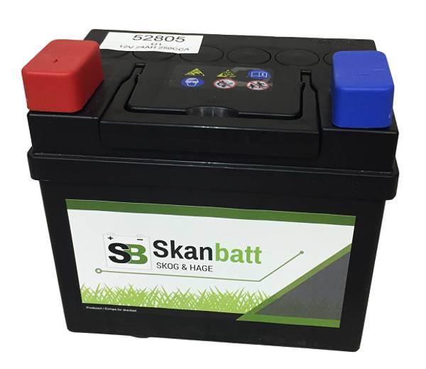 Bilde av SKANBATT Plenklipper Batteri 12V 28AH 240CCA (186x130x171mm) +ve