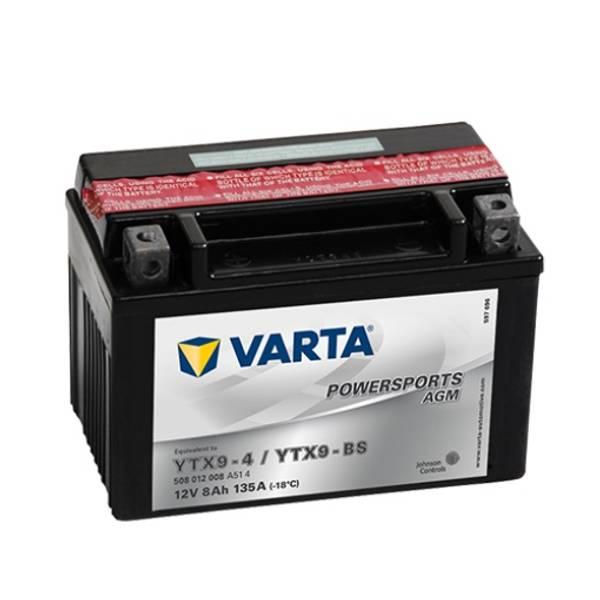 Bilde av VARTA YTX9-BS MC Batteri 12V 8AH 135CCA (152x88x106mm) +venstre