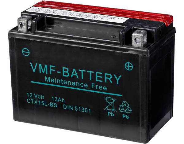 Bilde av YTX15L-BS MC Batteri 12V 13AH 230CCA (175x87x130) +høyre