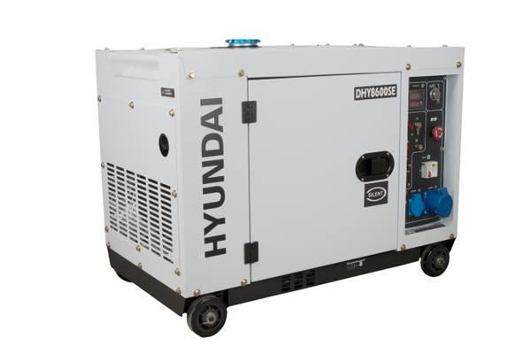 Bilde av HYUNDAI DHY8600SE Strømaggregat 6300W - Elektrisk start - Diesel